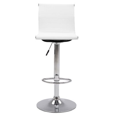 Buchanan 24.8 Swivel Bar Stool Color: White