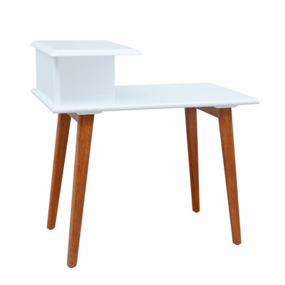 Stowe Split-Level Console Table Color: White