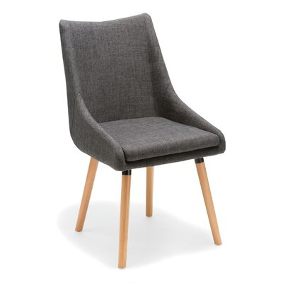 Seymour Upholstered Dining Chair Upholstery Color: Gray