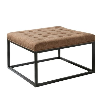 Iolite Square Ottoman Upholstery Color: Brown