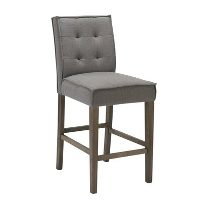 Eanes 26 Bar stool Upholstery: Grey
