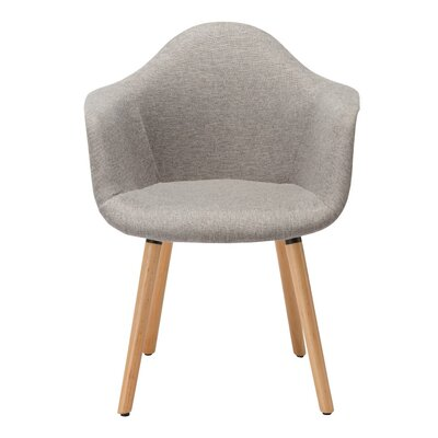 Paschal Mid-Century Upholstered Dining Chair Upholstery Color: Grey