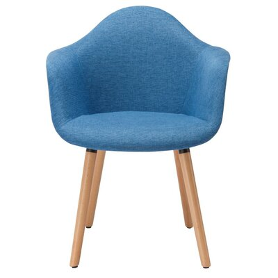 Paschal Mid-Century Upholstered Dining Chair Upholstery Color: Blue