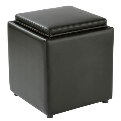 Elsner Square Storage Ottoman Upholstery: Black