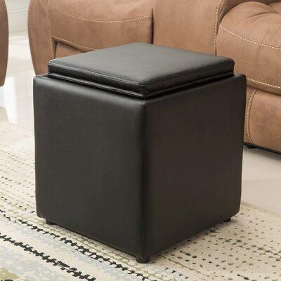 Elsner Storage Ottoman Upholstery: Black