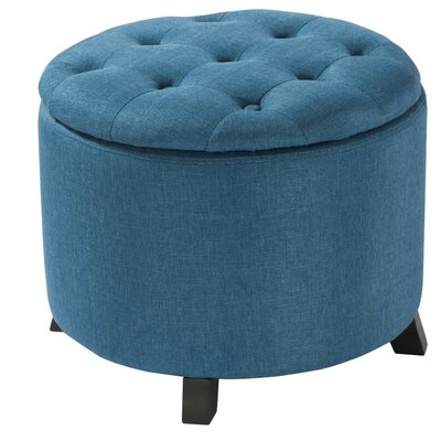 Langenfeld Storage Ottoman Upholstery: Blue