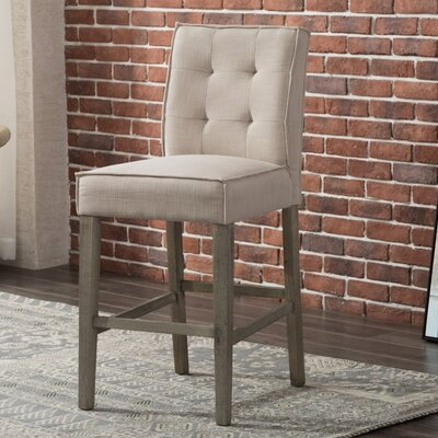 Eanes 26 Bar stool Upholstery: Cream