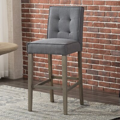 Fiddlewood 30 Barstool Upholstery: Grey