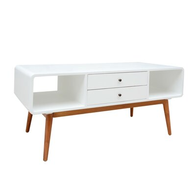 Ullrich 47 TV Stand Table Top Color: White