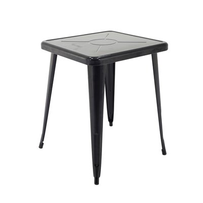 Feliz Indoor and Outdoor Rust-Resistant Metal Restaurant Coffee Table Finish: Black