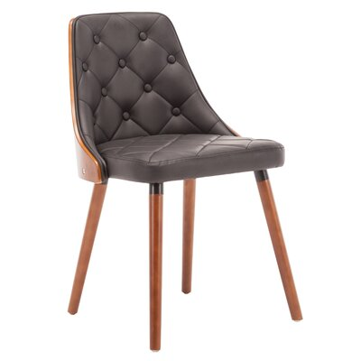 Gracelynn Upholstered Dining Chair Upholstery Color: Black