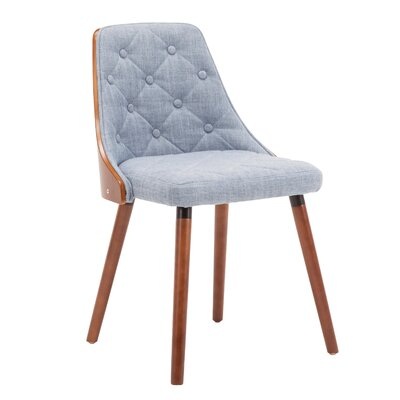 Ember Upholstered Dining Chair Upholstery Color: Blue