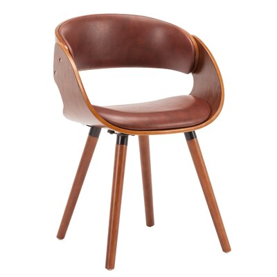 Viramontes Upholstered Dining Chair Color: Brown