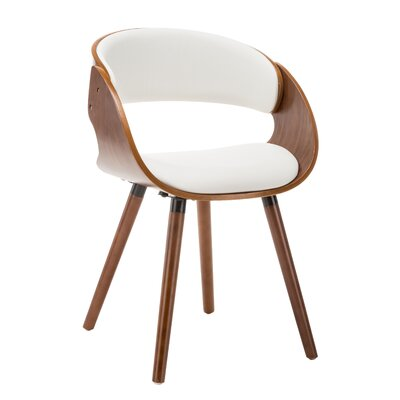 Viramontes Upholstered Dining Chair Color: White