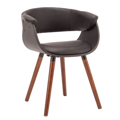 Visconti Upholstered Dining Chair Upholstery Color: Black