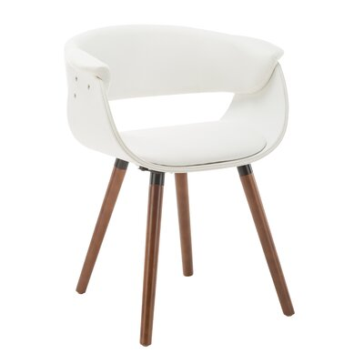 Visconti Upholstered Dining Chair Upholstery Color: White