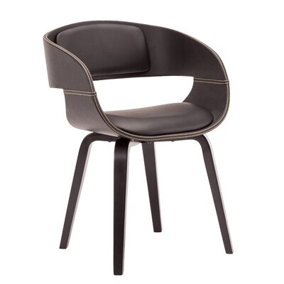 Visser Upholstered Dining Chair Upholstery Color: Black