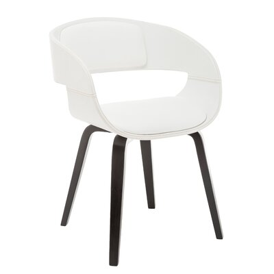 Visser Upholstered Dining Chair Upholstery Color: White