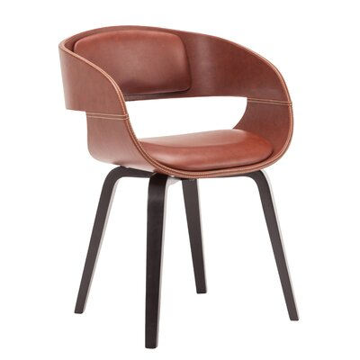 Visser Upholstered Dining Chair Upholstery Color: Brown