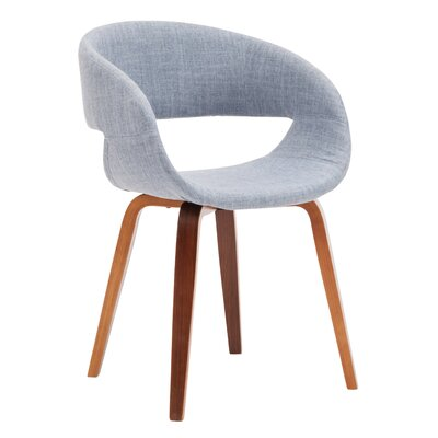 Vitagliano Upholstered Dining Chair Upholstery Color: Blue