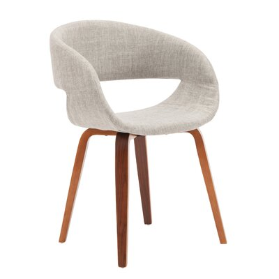 Vitagliano Upholstered Dining Chair Upholstery Color: Cream