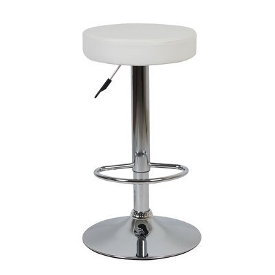 Balbo Adjustable Height Bar Stools Color: White