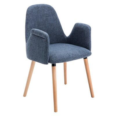 Weathersby Upholstered Dining Chair Upholstery Color: Blue