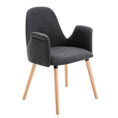 Weathersby Upholstered Dining Chair Upholstery Color: Gray