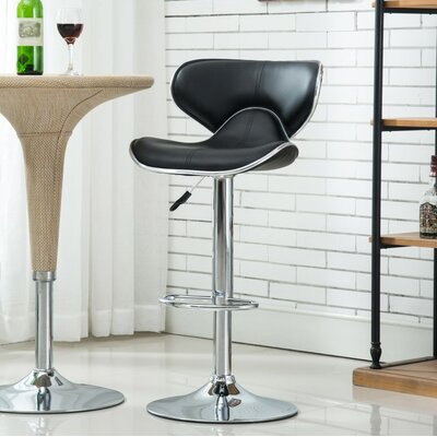 Bechard 23.62 Swivel Bar Stools Color: Black