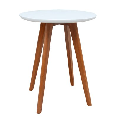 Warnock End Table Color: White