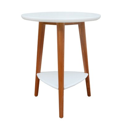Warriner End Table Color: White