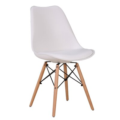 Fallis Upholstered Dining Chair Upholstery Color: White