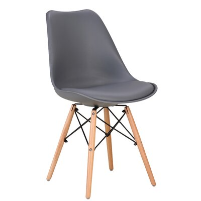 Fallis Upholstered Dining Chair Upholstery Color: Gray