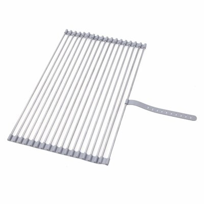 Roll-up Folding Drying Rack Colander Built-in Hook and Loop Fastening Rack Tie Finish: Chrome