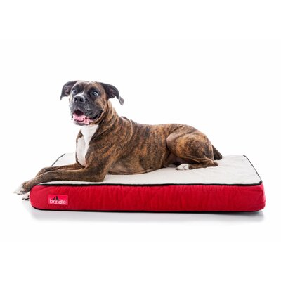 Waterproof Designer Memory Foam Pet Bed Size: Small, Color: Red Sherpa