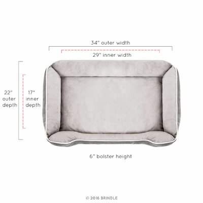 Rectangle Bolster Size: Medium (34 L x 22 W)