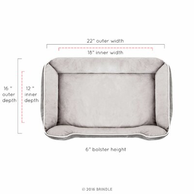 Rectangle Bolster Size: Small (22 L x 16 W)