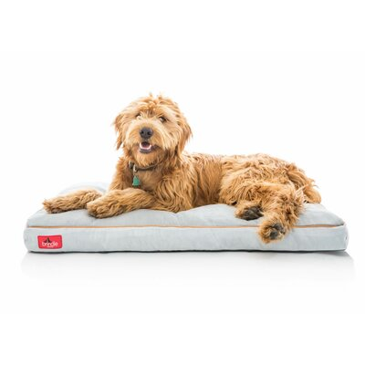 Soft Shredded Memory Foam Pet Bed Size: XXXL (52L x 34 W), Color: Stone