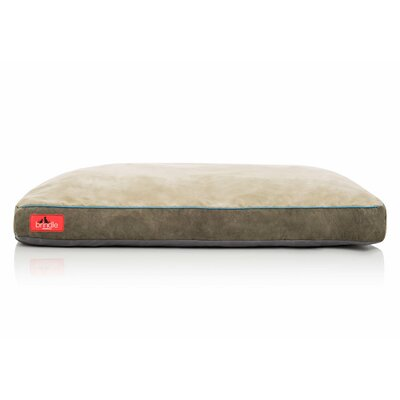 Soft Shredded Memory Foam Pet Bed Color: Khaki, Size: Extra Large (40L x 26 W)
