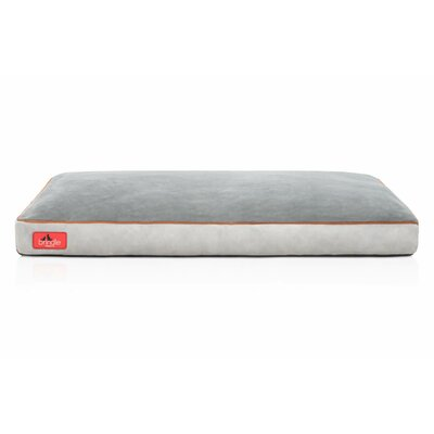 Soft Shredded Memory Foam Pet Bed Color: Stone, Size: Medium (28 L x 18 W)