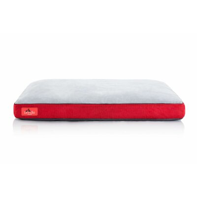 Soft Shredded Memory Foam Pet Bed Color: Red, Size: Extra Large (40L x 26 W)