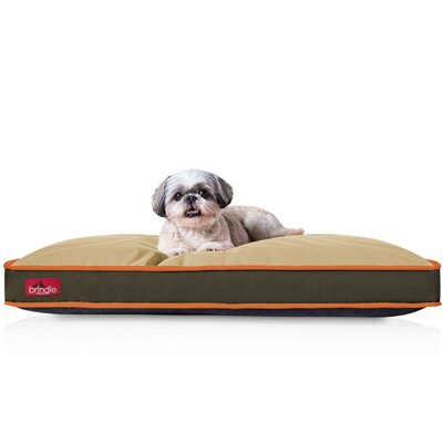 Washable Waterproof Pillow Pet Bed Color: Hunter Brown