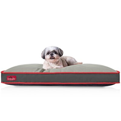 Washable Waterproof Pillow Pet Bed Color: Charcoal Red