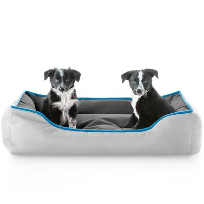 Hadley Reversible Waterproof Bolster Dog Bed Color: Smoke Blue