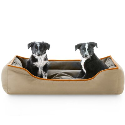 Reversible Waterproof Bolster Dog Bed Color: Hunter Brown