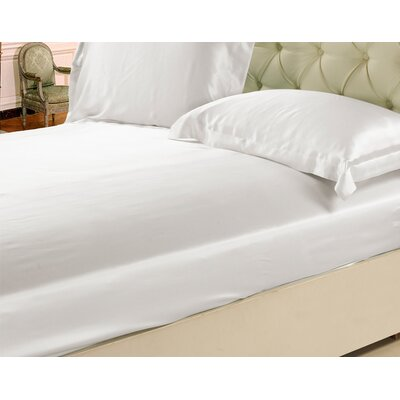 Silk Fitted Sheet Size: Queen, Color: White