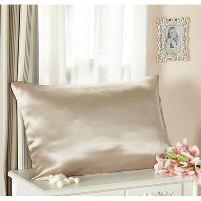 Pure Silk Pillowcase 22 Momme Color: Bright Coffee, Size: 36 x 20