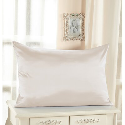 Pure Silk Pillowcase with Hidden Zipper 19 Momme Color: Ivory, Size: 36 x 20
