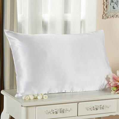 Pure Silk Pillowcase 25 Momme Color: White