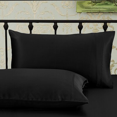 Pillowcase Size: Queen, Color: Black
